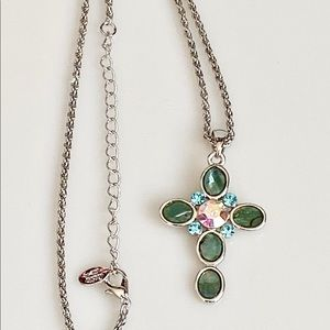 Cookie Lee Signed Cross Necklace